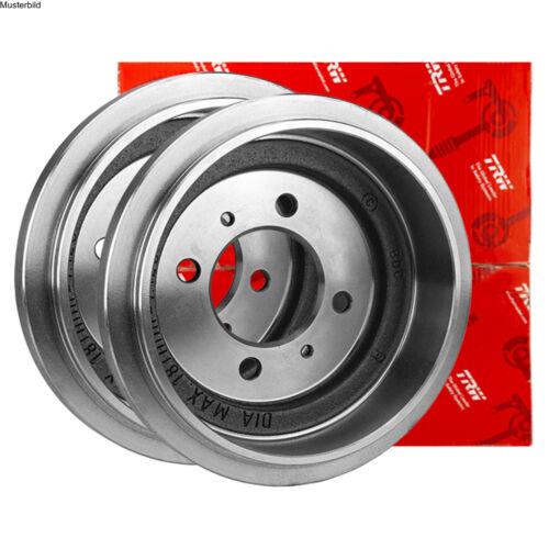 2x TRW BREMSTROMMELN SET HINTEN OPEL AGILA A H00 1.0 1.3 1.2 CDTI 16V Twinport