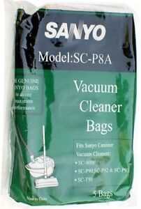 Sanyo SC-P8A Vacuum Cleaner Bags Pack of 5