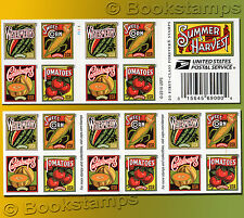 20 Summer Harvest Forever USPS Postage Stamps  Corn Watermelon Tomato Cantaloupe
