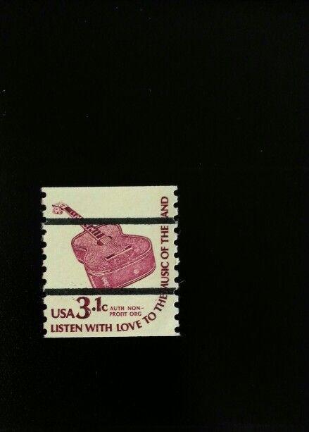 1975 3.1c Guitar, Coil Scott 1613a Mint F/VF NH