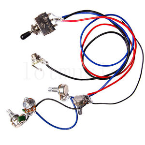 s l300 guitar wiring harness kit 2v2t 3 way switch ffor guitar parts wiring harness kit ebay at eliteediting.co