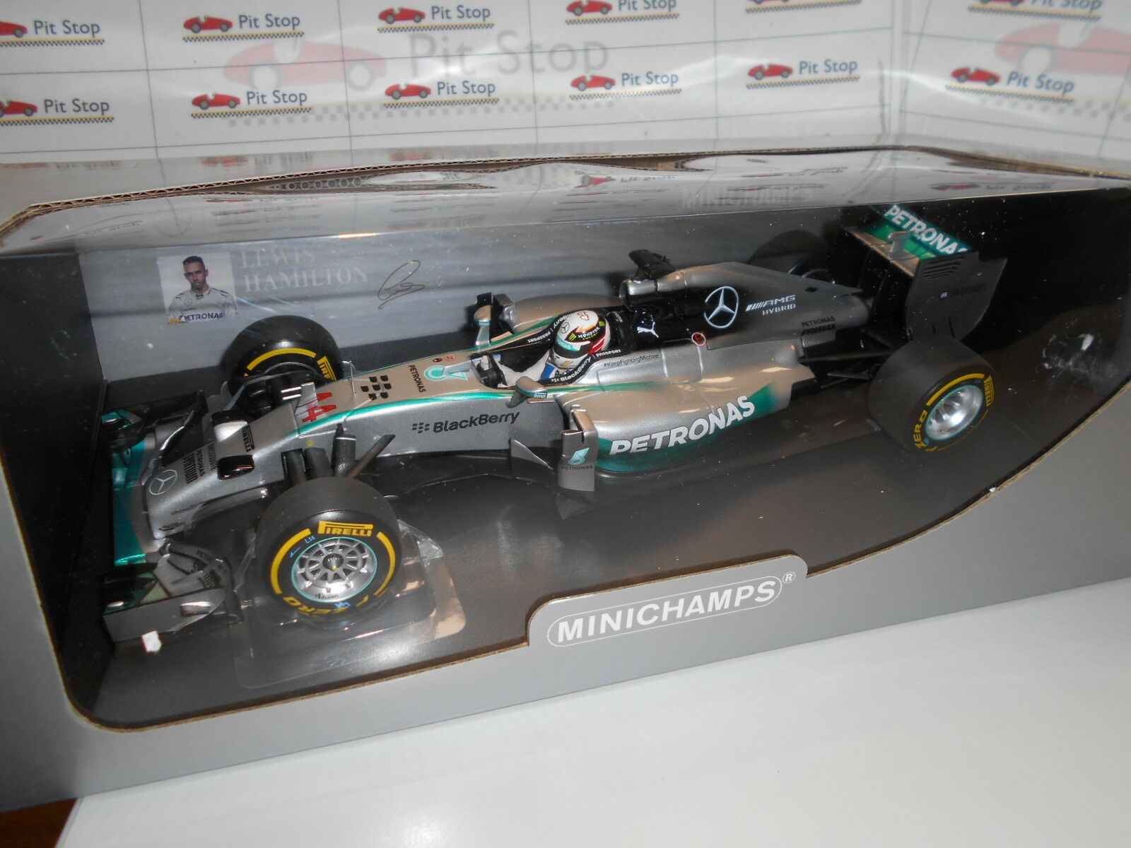 Min110140444 Mercedes AMG Petronas w05 Hybrid Hamilton Abu Dhabi'14 W.C 1 18