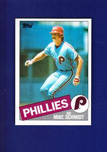 Mike Schmidt HOF 1985 TOPPS Baseball #500 (NM) Philadelphia Phillies