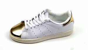 hot sale online 6c741 eca15 Details about Men's Adidas Stan Smith Metallic Gold Toe May 2015 Size 5.5  Limited Edition HTF