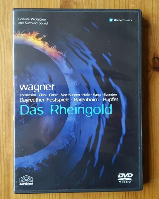 Wagner ; Das Rheingold by Bayreuth Choir & Orch/Barenboim. DVD w/book