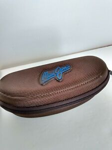 Maui-Jim-Sunglass-Brown-Hard-Case-Zippered-with-Sports-Clip-case-only