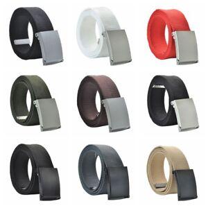 Fashion-Unisex-Military-Canvas-Webbing-Waistband-Brand-Waist-Buckle-Belt-Casual