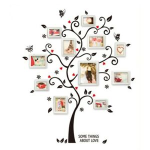 b1eb1f26fa Large Photo Frame Family Tree Removable 3d Wall Stickers Art Decal Home  Decor GU