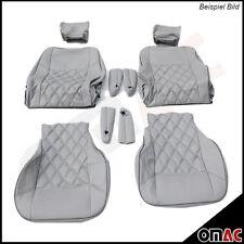 DIMOND Kunstleder Sitzbezug (Grau / Weiß) 1+1 vordere Sitzbezüge VW T5