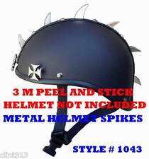 German helmet half shell metal helmets spikes 3M peel stick metal spike mohawks