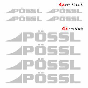 Kit-completo-8-adesivi-camper-Possl-GRIGIO-ARGENTO-loghi-possl-caravan-roulotte