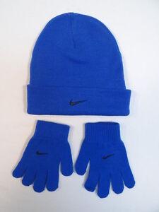 Nike Royal Blue Cuff Knit Beanie  amp  Knit Stretch Gloves Youth ... 985cd7cbb809