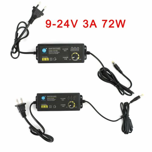 Details about  /9V-24V 3A Electrical Power Supply Adapter Charger Variable Voltage Adjustable