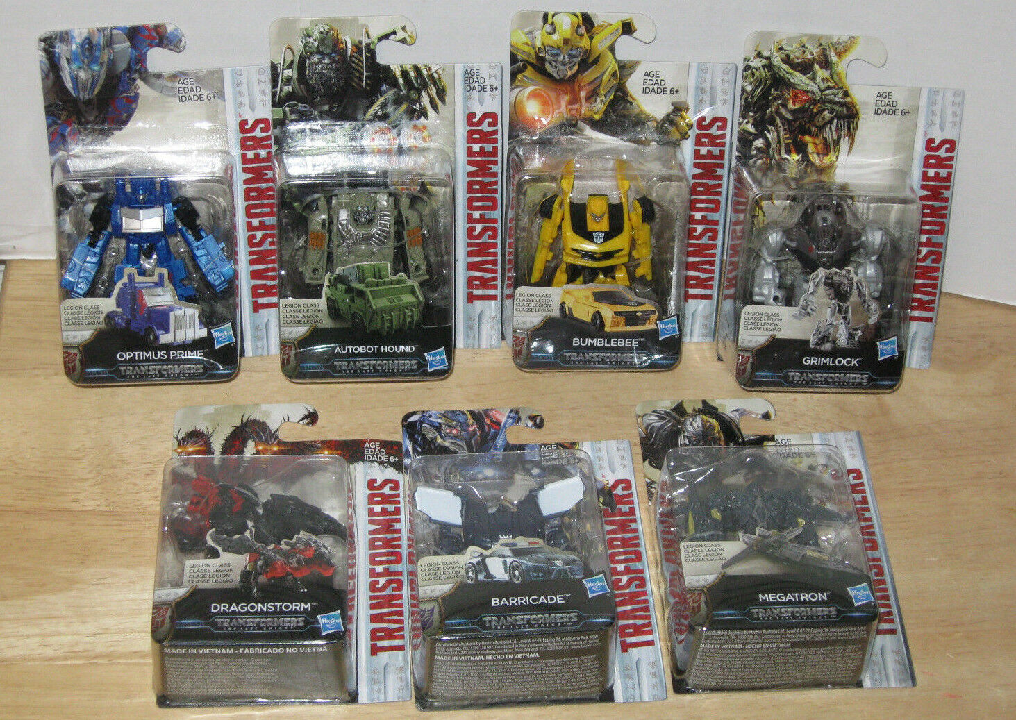 Transformers Last Knight Legion Lot 7 Optimus Prime Megatron Hound Dragonstorm