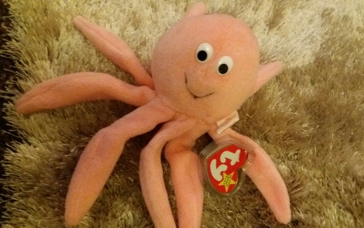 Ty Beanie Baby Inky The Octopus  Original Rare  Indonesia.