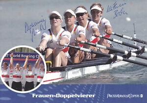 Rudern-Frauen-Doppelvierer-Deutschland-Gold-WM-2007-Original-Autogramm