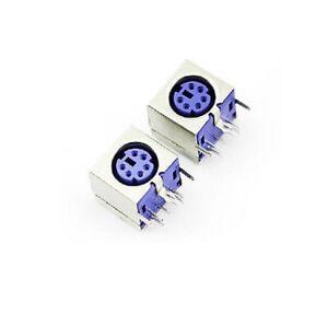 2PCS-MINI-6PIN-FEMALE-PCB-MOUNT-PS2-JACK-mouse-keyboard-plug-connector