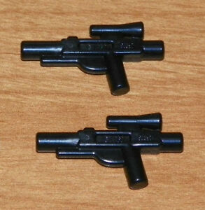 LEGO-Star-Wars-Minifig-Weapon-Blaster-Gun-Pistol-X2-Black