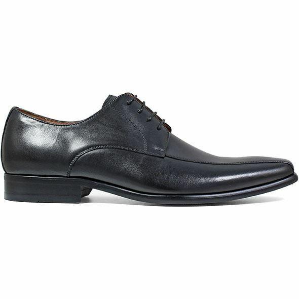 Homme Florsheim Postino Oxford Chaussures en cuir noir lisse 15154-005