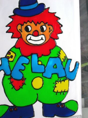 Gabis Window Color Bilder Deko Fasching Karneval lustiger Clown  versch.Bilder
