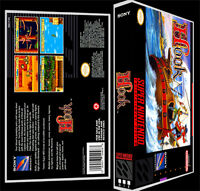 Hook - Snes Reproduction Art Case/box No Game.