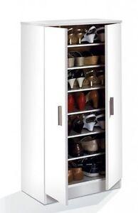 Bellini Hallway 2 Door Shoe Storage Cabinet Unit with 7 Shelves ...