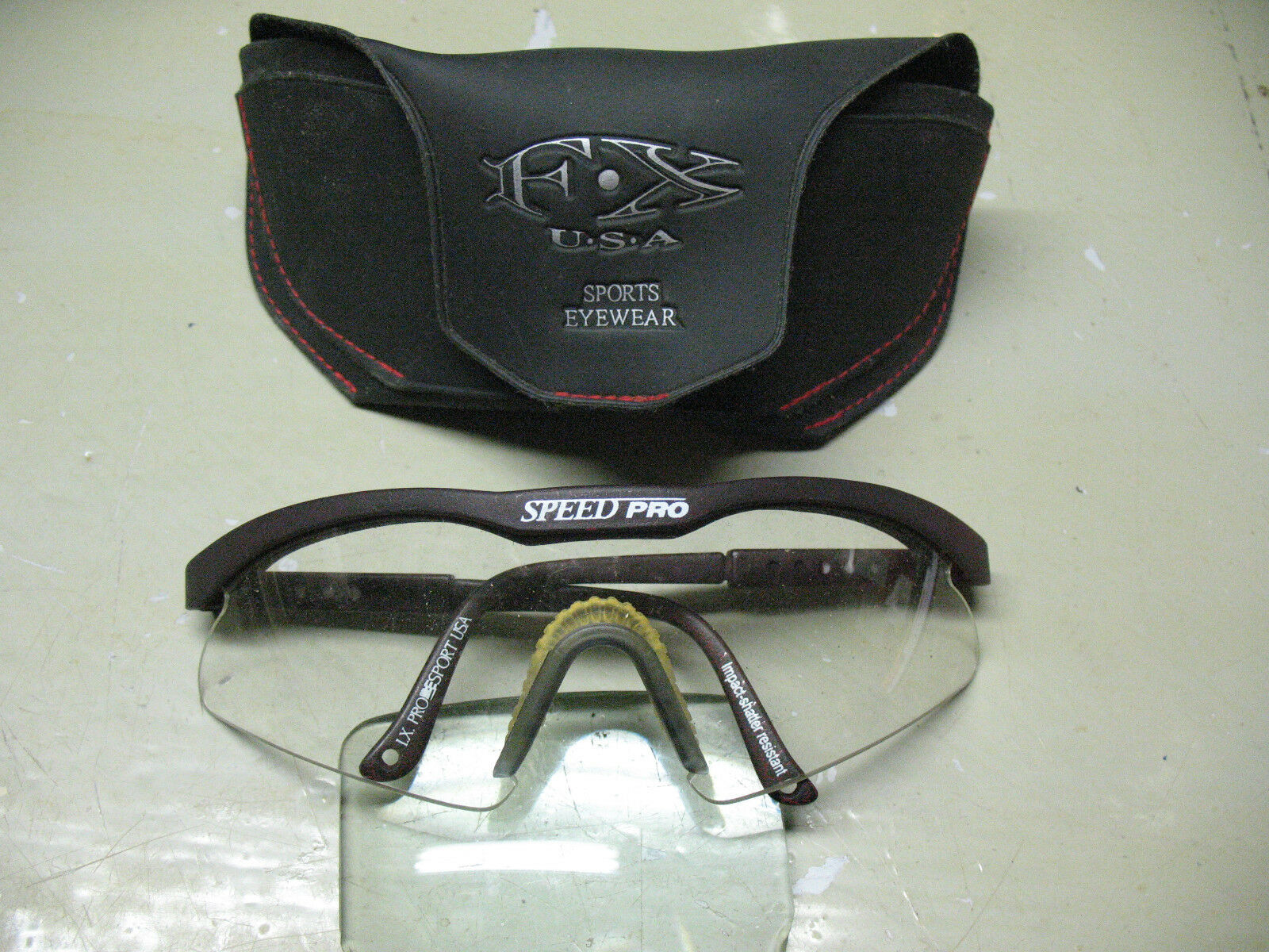 F  X  USA SPORTS EYE WEAR SPEED PRO ADJUSTABLE  VINTAGE  GENUINE w  CASE NICE  wholesape cheap