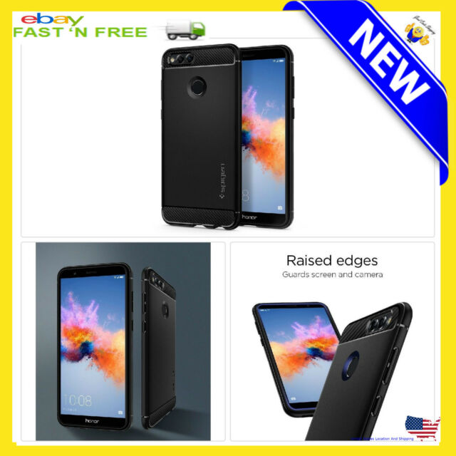 more photos 0b4b3 2af7f Spigen Rugged Armor Huawei Honor 7X Case / Mate SE with Resilient Shock...