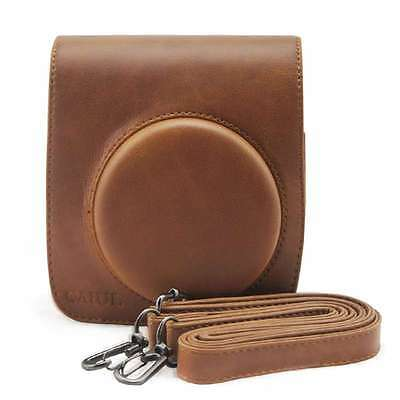 Latest PU Leather Brown Camera Case Bag Holder For Fuji FUJIFILM Instax Mini90
