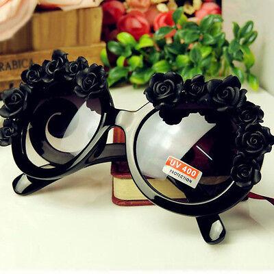 Fashion Retro Vintage Women Designer Rose Flowers Sunglasses UV 400 Handmade