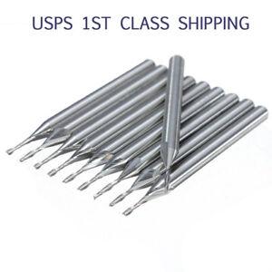 10x 1//8/'/' 3.175mm Hi-Q Carbide CNC Four 4 Flute Spiral Bit End Mill Cutter 12mm