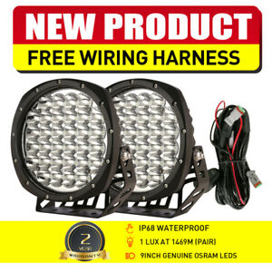 NEW-DESIGN-LED-Driving-Spot-Lights-9inch-OSRAM-Black-Round-Offroad-Truck-SUV-4x4