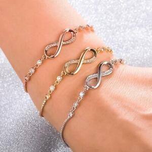 Einstellbare-Unendlichkeit-Freundschaft-Bridesmaid-Armband-Kubikzircon-Kristall