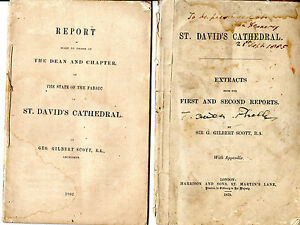St DAVID039S CATHEDRAL FABRIC  REPORTS BY SIR GGILBERT SCOTT 1862 and 1873 - Carmarthen, United Kingdom - Returns accepted Most purchases from business sellers are protected by the Consumer Contract Regulations 2013 which give you the right to cancel the purchase within 14 days after the day you receive the item. Find out more abo - Carmarthen, United Kingdom