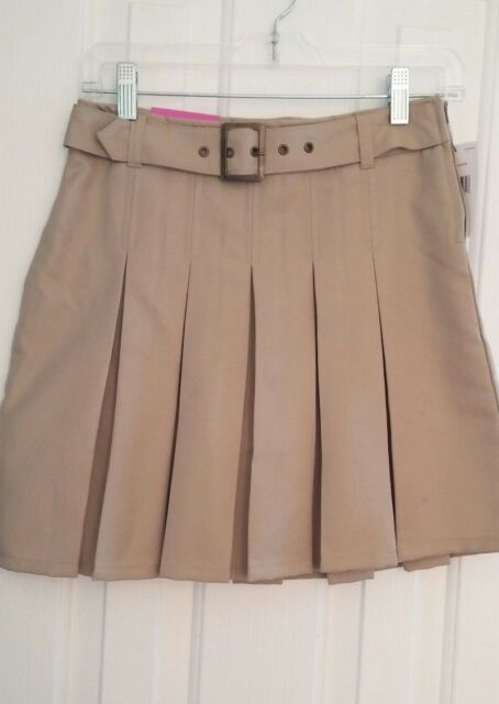 639533188a NWT--French Toast Girl's Scooter Skirt, Size 12, Khaki, Skirt w ...