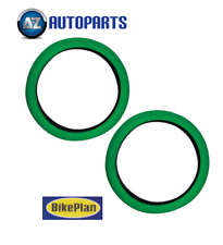 "BMX Bike Bicycle Tyres Retro Style 20"" x 2.0"" Pair 2x Bikeplan Green"