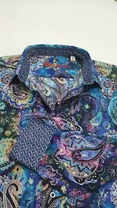 Robert-Graham-Men-039-s-Large-Paisley-Floral-Print-COLORFUL-Sport-Shirt-NWT