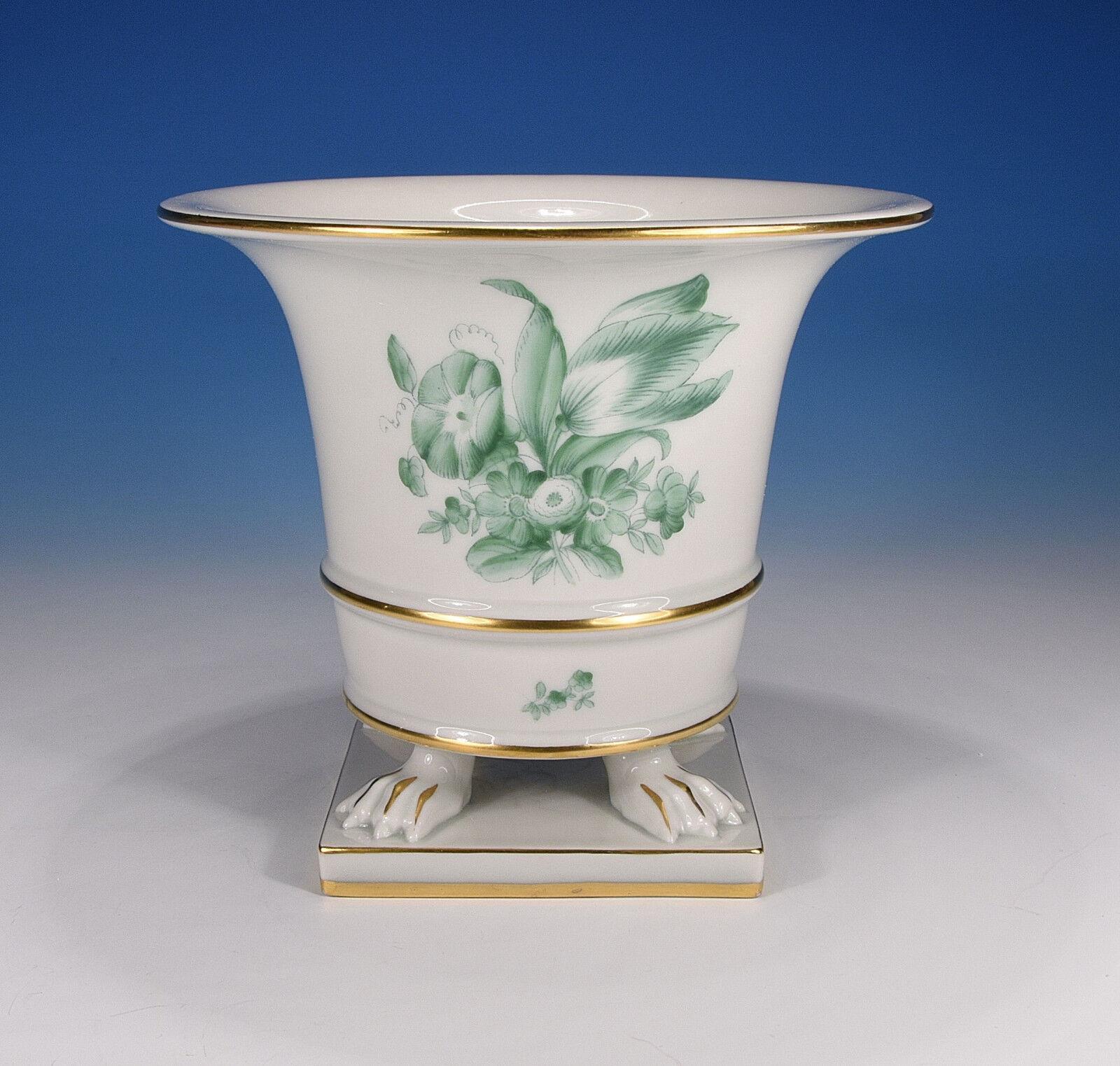 Herend  Bouquet de Tulipe vert  vase sur pieds