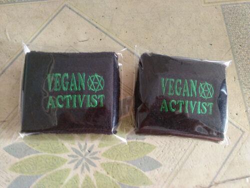 Vegan Activist sweatbands from Activizm Design.