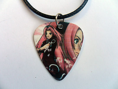 Naruto Anime  Guitar Pick  ////  Plectrum  Leather  Necklace