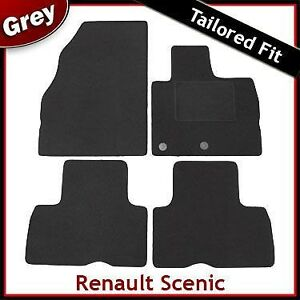 Renault Scenic Tailored Fitted Carpet Car Mats Grey 2009 2010