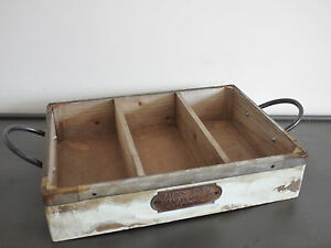 London Wooden Vintage Furniture Old Storage Crate Box Garden Tools Kitchen 48cm Ebay