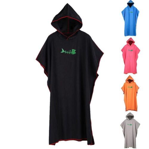 US Unisex New Casual Hooded Bathrobe Pajamas Robe Sleepwear Beach Towel Poncho