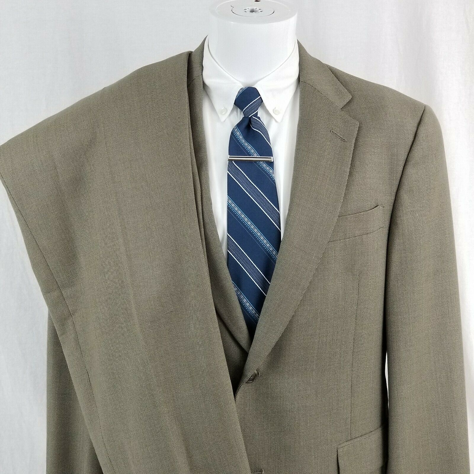 3fda97b8 Hart Schaffner Marx Men's 40 R 2 Button Brown Wool Suit Pleated 35 x 27.5
