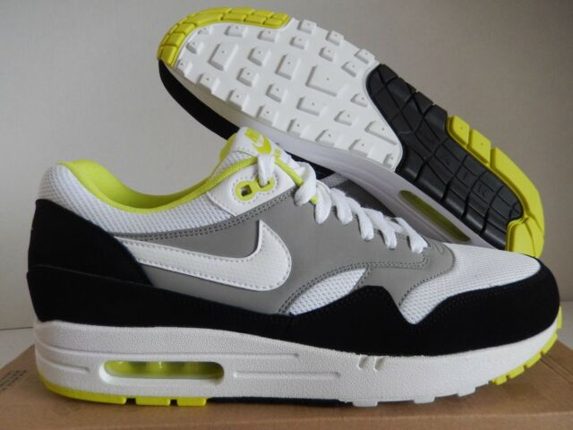 best website 55e95 cf6b9 DS Nike Air Max 1 Essential Wolf Grey Black Volt Green Max 90 537383-110 Sz  10.5