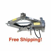 Electric Car Jack Scissor 1 Ton 12v Lift Garage Auto Shop Floor