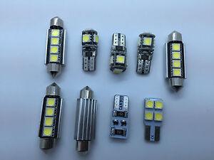 BMW 1 Series E82 E87 Coupe Interior Light Kit Error Free White LED Bulbs 9pcs