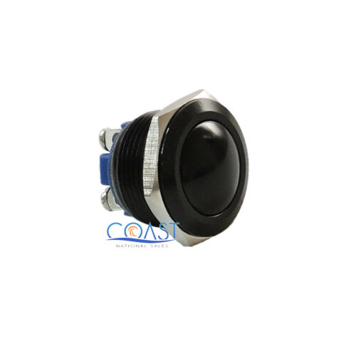 Durable 19mm Car Starter Horn Momentary Black Push Button Toggle Switch
