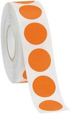 Self Adhesive Labels 34 Dot Circle Stickers Orange 2000 Labels 2 Rolls Blank