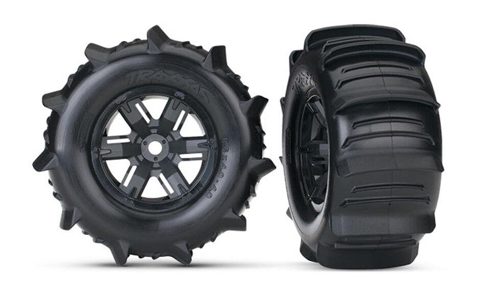 Traxxas 7773 X-Maxx Pre-Mounted Paddle Tires  & ruedas (2)  presa di fabbrica